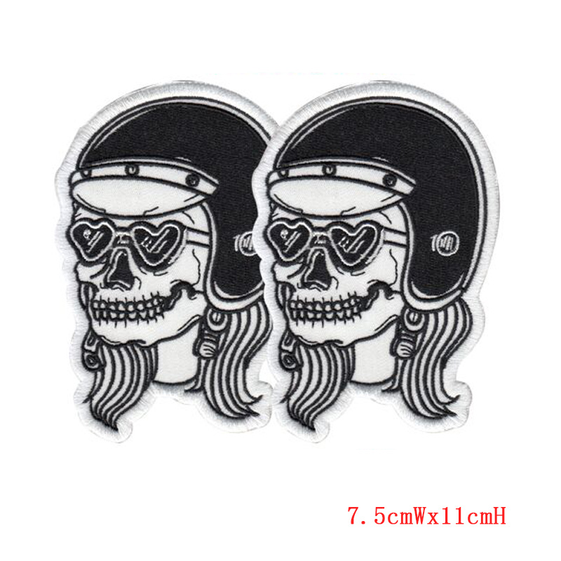 AIMELANG Skull patch brand or Iron on repair patches to ensure the quality of embroidery patch to accept custom patches