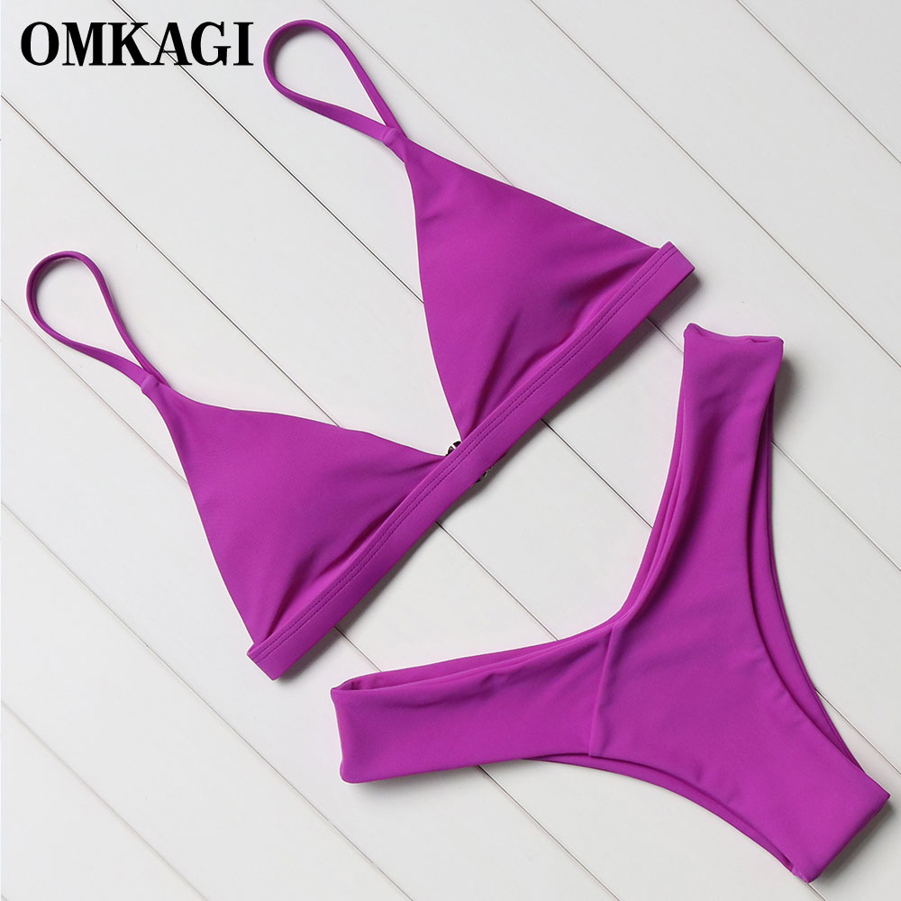 OMKAGI Brand Swimwear Women Swimsuit Sexy Push Up Micro Bikinis Set Swimming Bathing Suit Beachwear Summer Brazilian Bikini 2018 4
