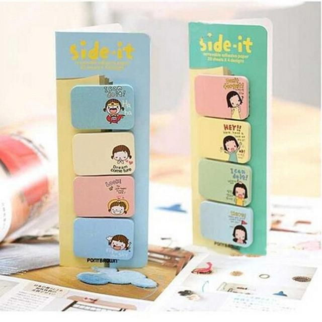 kawaii sticky notes funny joy sticker bookmark memo marker point flags memo pads lovely girl print