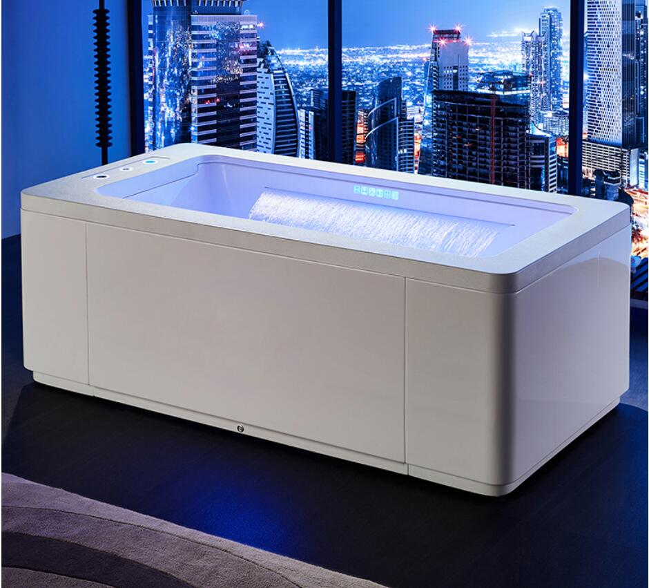 Permalink to 1700mm Whirlpool Surfing Colored Lamp Bubble Bathtub Hydromassage Waterfall Tub NS1101W