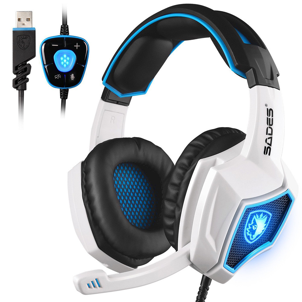 SADES Spirit Wolf 7.1 Surround Stereo Sound USB Gaming Headset with Microphone 18Dec22 image
