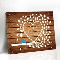 Подгонянная Свадебная Гостевая книга с деревом Свадебные украшения вечерние сувениры альтернатива холст книга для гостей Романтическая л