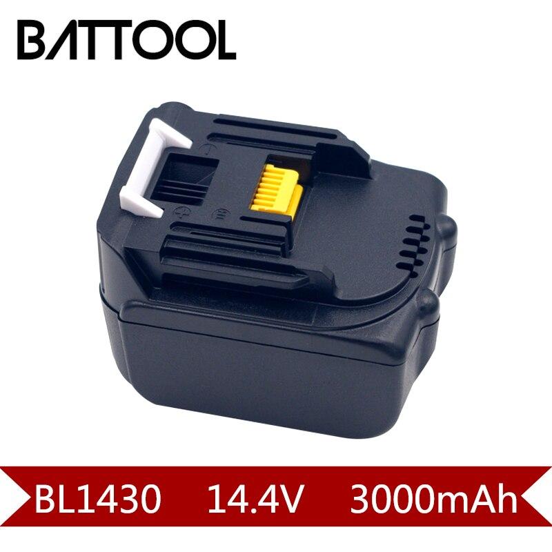 1X3000 mAh 14.4 V Li-ion BL1430 Rechargeable Batterie pour MAKITA BL701 BL1415 194065-3 194066-1