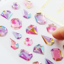 1pc Crystal Diamond 3DStickers Decorative Stationery Craft Stickers Scrapbooking DIY Stick Label Phone Decoration colorful dairy life food stickers decorative stationery craft stickers scrapbooking diy stick label