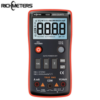 RM408B Digital Multimeter Button 8000 Counts True RMS Temperature Test 5MHz Frequency ACDC Voltage Current 9.999mF Capacitance