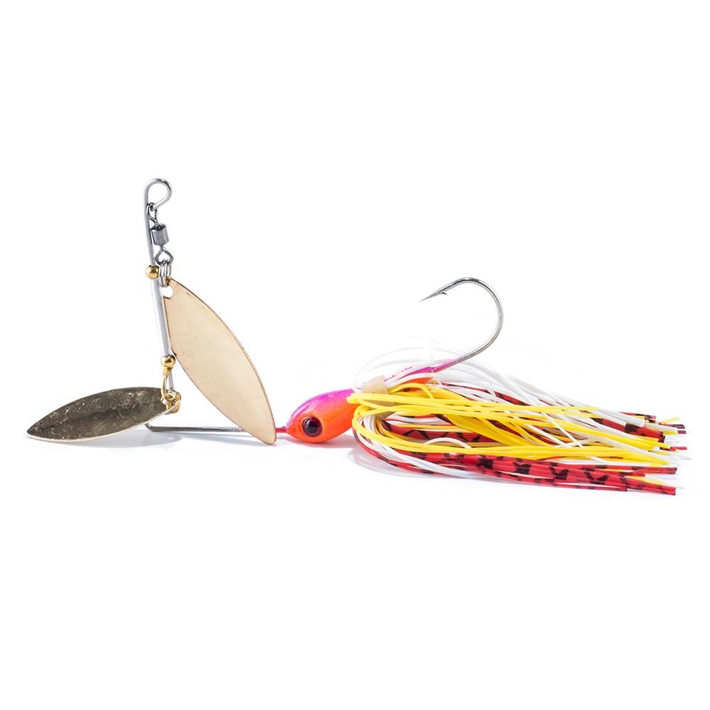 SEALURER Spinner Bait Rotating Lure Sequined Beard Lures Bait Noisy Spinner Bait Buzzbait Composite Bait Target for Catfish Bass