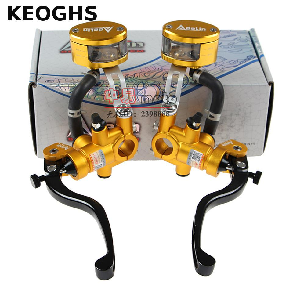 KEOGHS Adelin Motorcycle Brake Master Cylinder Hydraulic 17 5x18mm New Brake Fluid Reservoir Tank For Honda