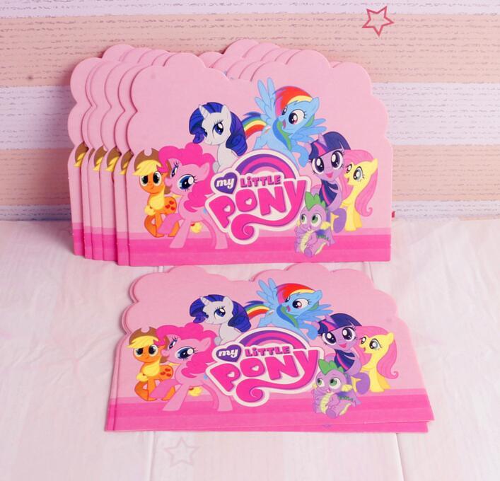 10pcs Lot Baby Shower My Little Pony Theme Cartoon Kids