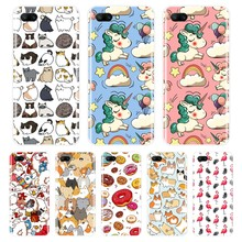 Silicone Case For Huawei Honor 7 8 9 10 LITE Soft TPU Cute Unicorn Cover For Honor 8X MAX 10 9 8 7 7S 7X 7A 7C Pro Phone Case(China)