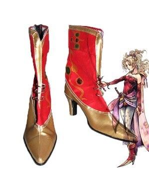 FF6 disidia Final Fantasy Terra Branford zapatos de Cosplay botas de tacón alto hecho a medida de cualquier tamaño