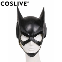 Coslive Halloween Movie Cosplay New Batgirl Black Cosplay Mask Cat like Black Latex Half Face Masks For Adults Cosplay
