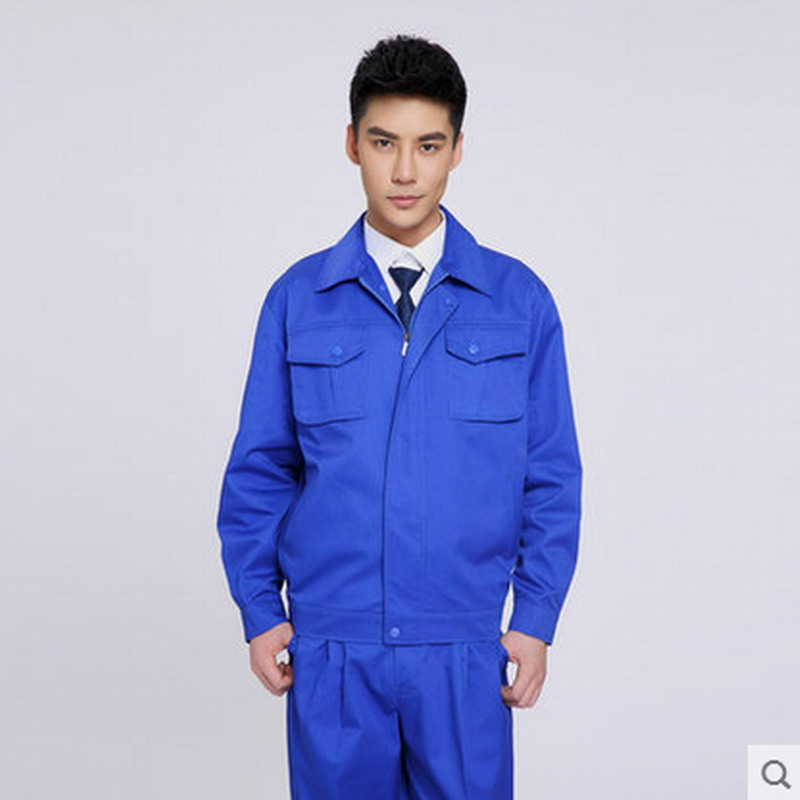Long-sleeve clothing set work wear work clothes set work clothes workwear mens work clothing reflective coveralls windproof road safety maritime clothing protective clothes uniform workwear plus size