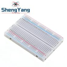 1 adet ShengYang kaliteli mini ekmek tahtası/breadboard 8.5CM x 5.5CM 400 delik