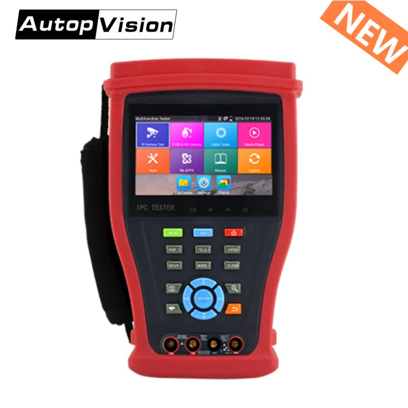 Wanglu Upgraded IPC4300 Plus H.265 4K IP Camera Tester 8MP TVI CVI 5MP AHD SDI Camera CCTV Tester Monitor With UTP/RJ45 Test