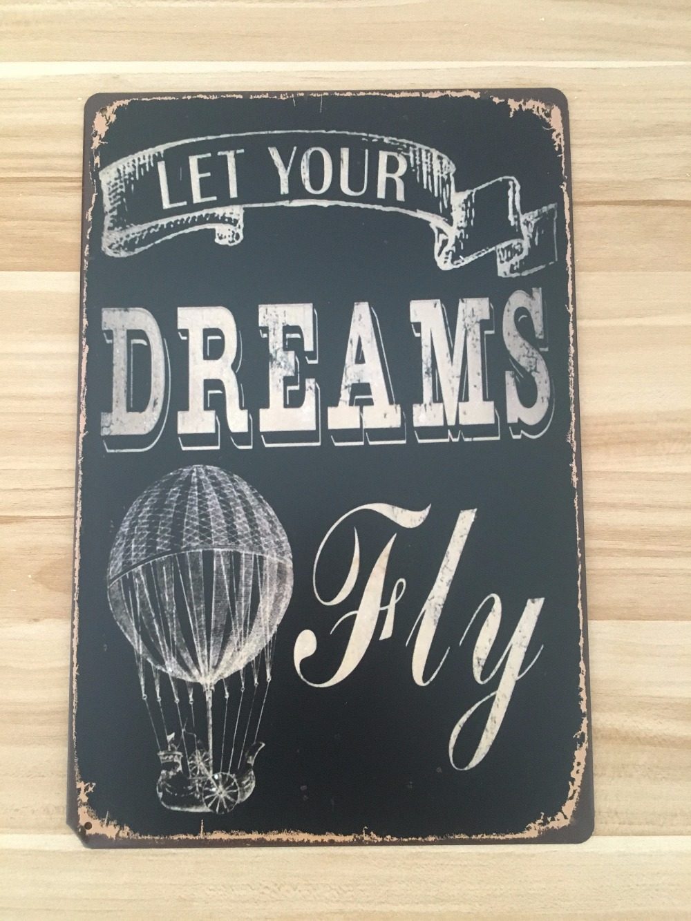 "Metal Sign Letters Wholesale Online Shop 20X30Cm Tin Sign Letters Sign ""let Your Dream Fly"