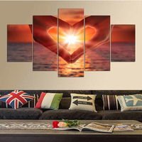 5 PCS 5D Diy Mosaic Art Needlework Diamond Painting Hand Heart Love Rhinestone Pasted Cross Stitch