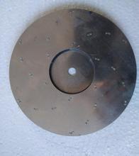 125mm flat aluminum fan blade impeller vacuum cleaner motor parts flat shape 8mm hole
