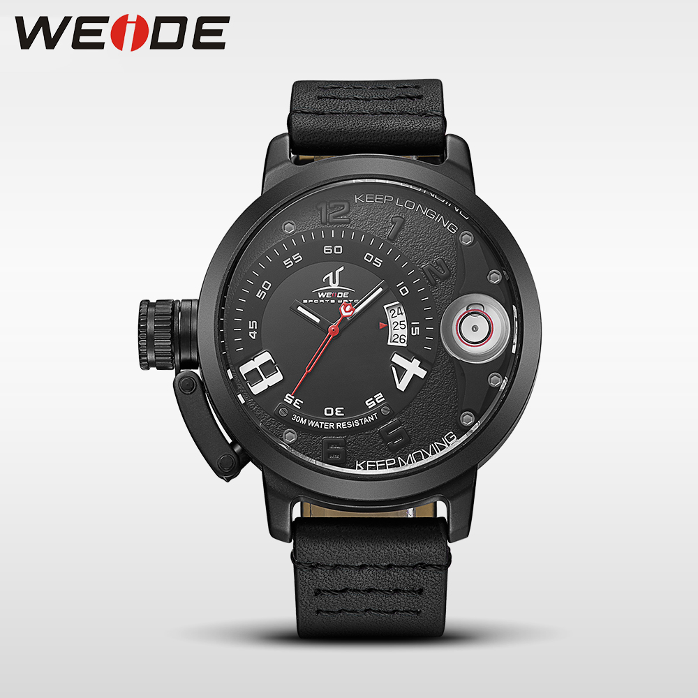 купить WEIDE men watches brand luxury men quartz sports wrist watch casual genuine water resistant analog leather Watchband men's watch по цене 2165.72 рублей