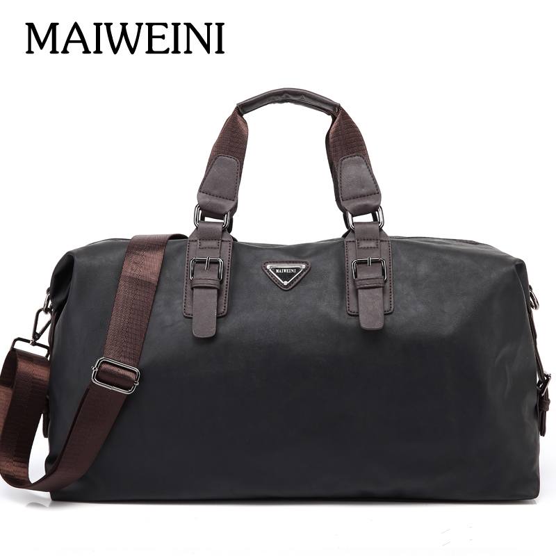 Sacs à main imperméables de marque MAIWEINI PU et Nylon pour hommes sacs à bandoulière portatifs de grande capacité paquet de sacs de voyage de mode pour hommes