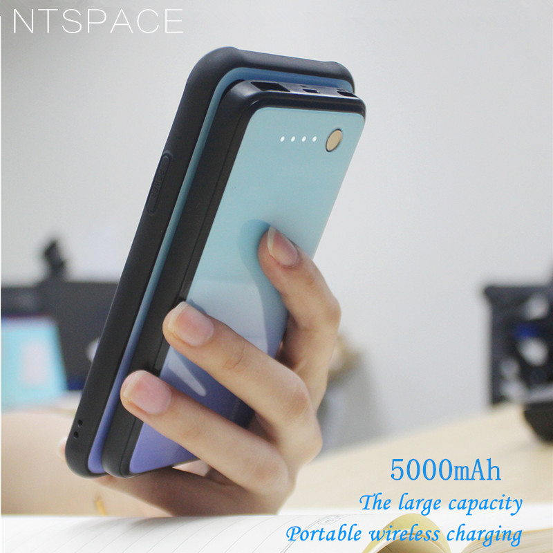 NTSPACE Battery Charger Cases For Xiaomi Mi MIX 3 Case External Magnetic Cover Backup Power Bank Charging