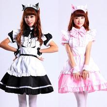 Lolita Cat Ear Maid Apron Dress Meidofuku Uniform Outfits Anime Cosplay Costumes M-XL