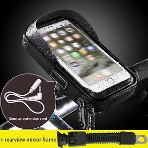 Image 2 - 6 inch Fiets Mobiele Telefoon Houder Waterdicht Bike Case Stand Motorfiets Stuur Mount Tas voor iphone Samsung HUAWEI xiaomi