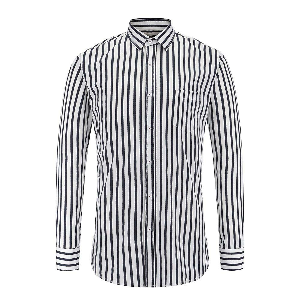 2020 New Autumn Fashion Brand Men Clothes Striped Long Sleeve Shirt Slim Fit Casual Male Tops Work Clothing Camisa Masculina