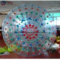 Оптовая продажа 3 м Диаметр надувной мяч Зорб пузырь футбол 1.0 мм ПВХ Прочный прокатки мяч для наружного человека боулинг спортивные игры