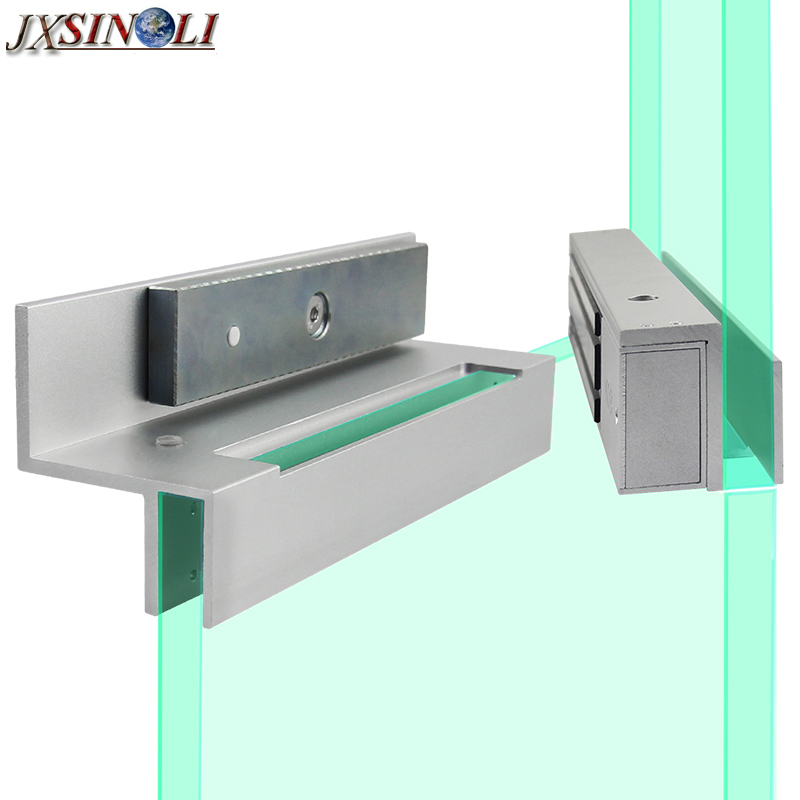 Upper And Lower Frameless Glass Door Mounting Bracket For 280kg 600lb Electromagnetic Lock In Access Control Accessories From Security Protection On
