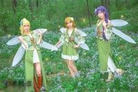 Love live Flowers Fairy Fly Unwakening All Member Cosplay Costume Halloween Women Costume Dress Dress+Headdress+Wing