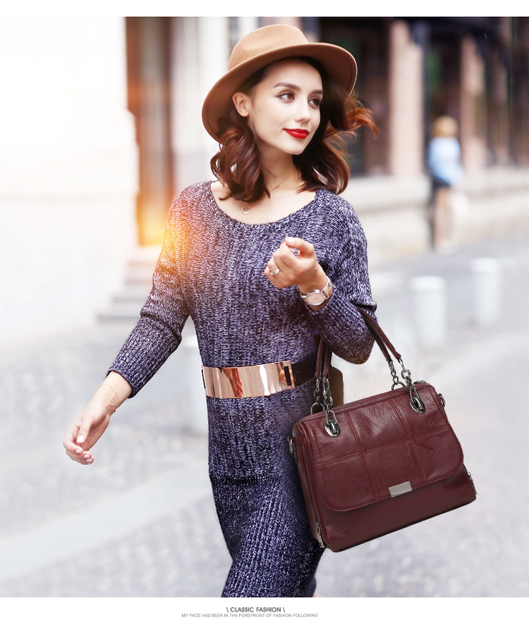 Women Fashion Luxury Designer Brand Leather Handbag