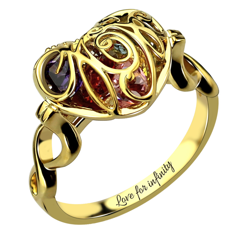 Caged Heart Ring