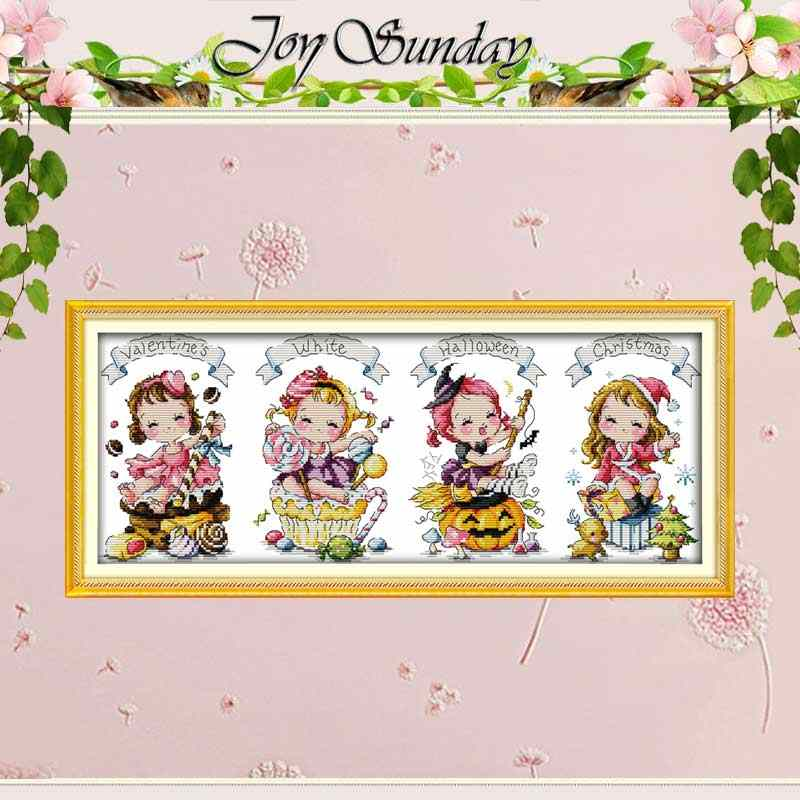 The special festival Counted Cross Stitch 11CT 14CT Cross Stitch Set Wholesale Cartoon Cross-stitch Kit Embroidery Needlework