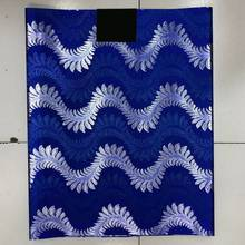 Blue&Silver African Sego Gele Headtie Head Tie,2 pcs Set Nigeria Wedding Headwear LXL-29-8