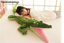 large 150cm cartoon crocodile plush toy cute crocodile soft doll throw pillow toy birthday gift s0896