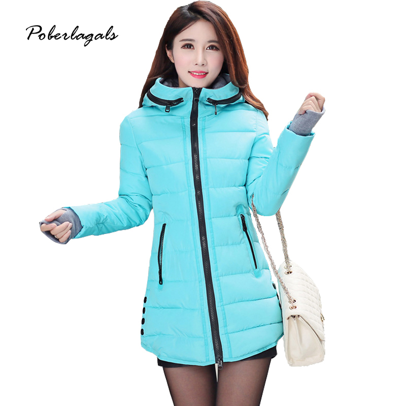 L&G Women's cotton-padded jacket 2016 winter medium-long down cotton plus size jacket female slim ladies jackets  coats snowwear l 3xl winter jacket women s 2016 plus size slim down cotton padded jacket pocket long with a hood thermal brief down dy0010