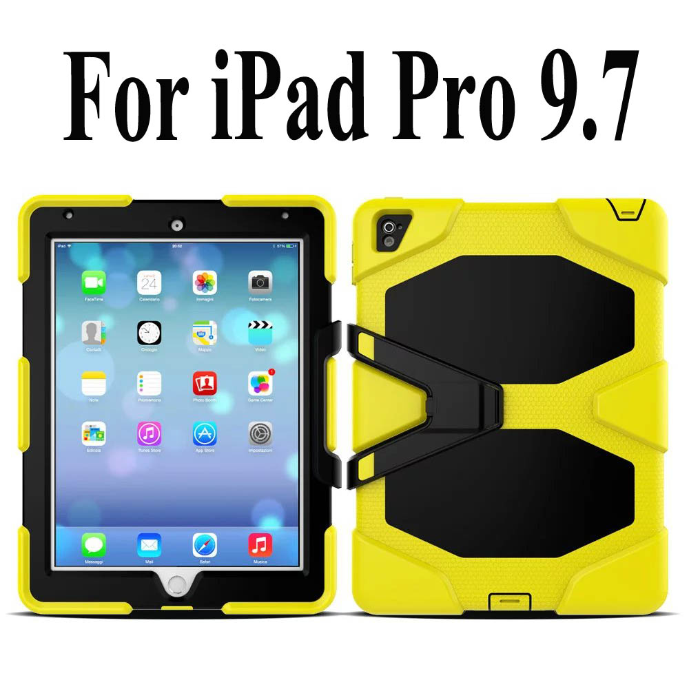 buy for apple ipad pro 9 7 shockproof armor hybrid defender kickstand case. Black Bedroom Furniture Sets. Home Design Ideas