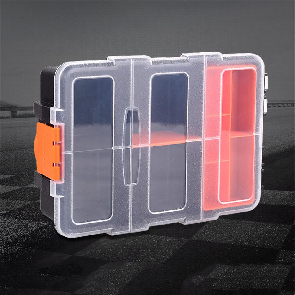 F-156 Portable Plastic Tool Parts Storage Box Suitcase Spanner Screwdriver Parts Organizer Box Electrician Tool Suitcase