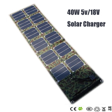 Chimole 40w 18v/5v Dual output waterproof outdoor foldable folding solar panel charger external 12v battery device charger