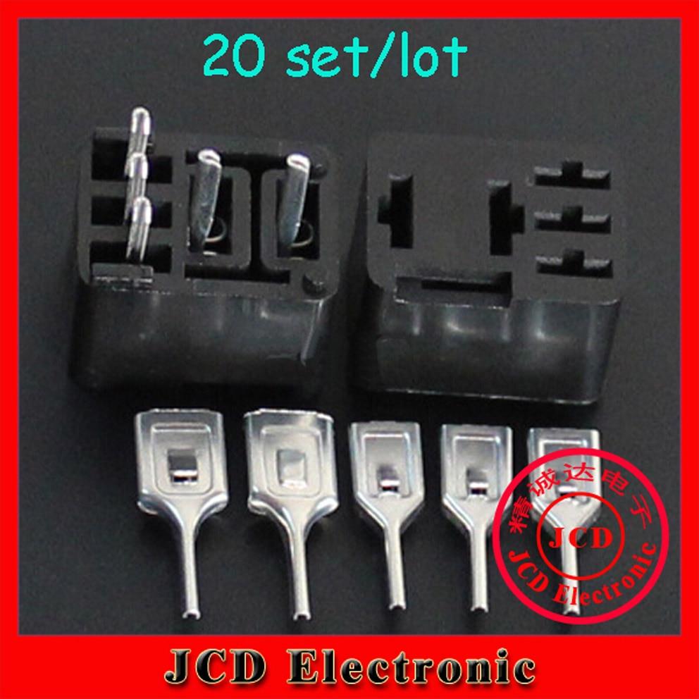 20sets Automotive Relay Sockets 5 Pin Pcb Mount Series