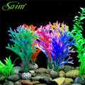 5PCS/Lot 2017 Saim New Coral Aquarium Artificial Silicone Plant Aesthetically Beautiful Coal Healthy Fish Love Accessories