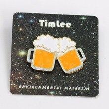 Timlee Beer cheers metal pin