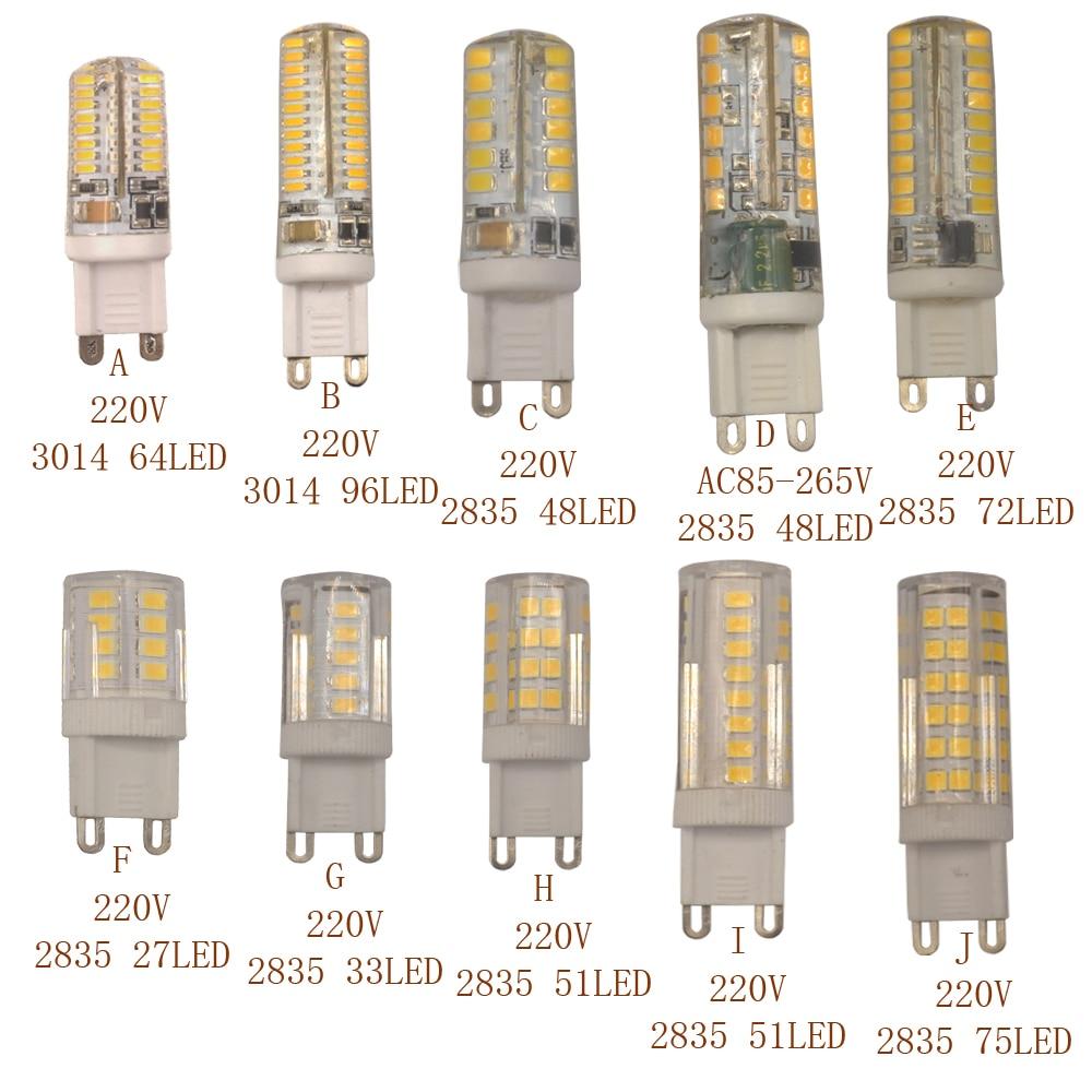 free shipping g9 Led Light lmaps 3014 2835 SMD g9 bulb 360 degrees AC 220V Chandelier Light Replace Halogen Lamp
