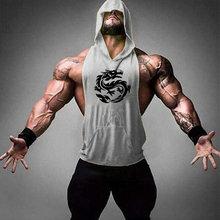 2019 New Men Cotton Tank top Undershirt Gyms Fitness Hooded Vest Sleeveless Sport Top Tight Workout Running men