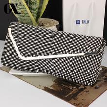 GX Frauen 2016 Mode Hochwertigem Weichem Strass Vintage Messenger Bags Designer Handtasche Umschlag Kupplung Mini Umhängetasche