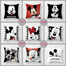 Unstuffed 40*40 cm Travesseiro Do Mickey Mouse Minnie Mouse Caso Mickey e Minnie Plush Pillow Desenhos Animados Almofada Travesseiro Caso tampa do sofá(China)