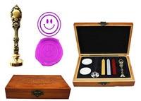 Vintage Smile Custom Luxury Wax Seal Sealing Stamp Brass Peacock Metal Handle Sticks Melting Spoon Wood