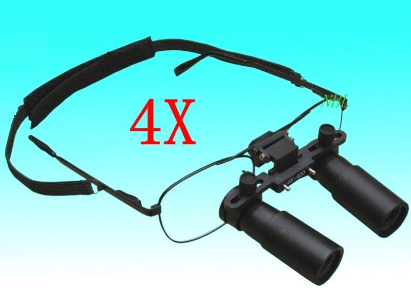4X Headband Óculos Lupa Dental Médico Cirúrgica Lupas Dentais Dental Para O Dentista Odontologia 1 Ano de Garantia Frete Grátis