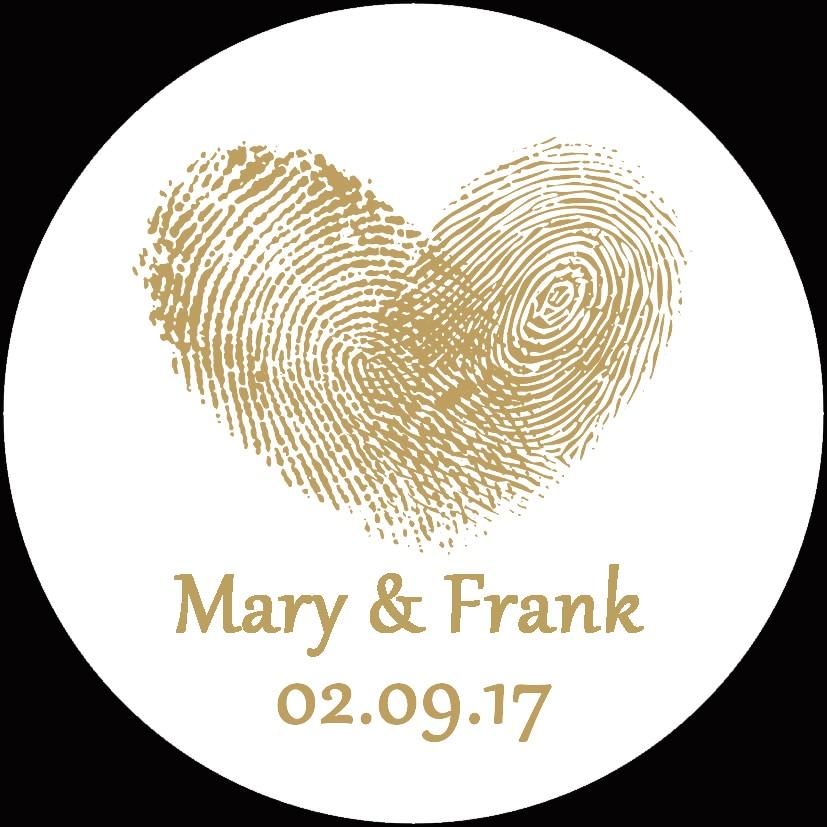 100pcs Custom name stickers label Wedding Stickers Personalise LOGO white background round label Boda Paper Etiquetas