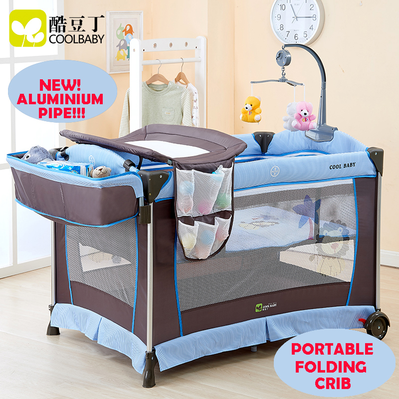 Multi-functional Folding Baby Bed Portable Baby Crib Game Bed Child bed Baby Cradle Bed New Fashion Light-Weight Aluminium Pipe export portable folding newborn cradle multi function baby bed game bed table boy